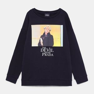 Zara Devil Wears Prada Sweatshirt - Size Small